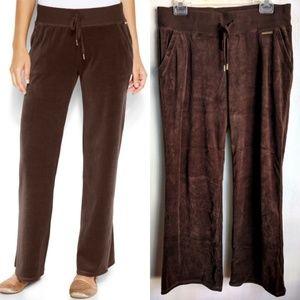 Michael Kors Brown Velour Pull-On Pants sz L